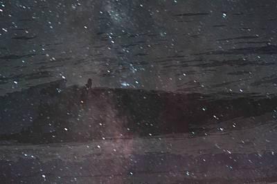 Galactic Alignment Photograph - Surfing The Galaxy 1 by Carolina Liechtenstein