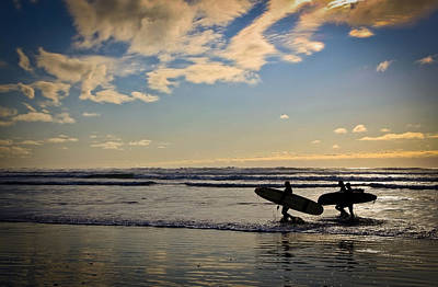 Photograph - Surf's Up At Sunset by Athena Mckinzie