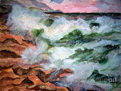 Painting - Surfs Up by Carol Grimes