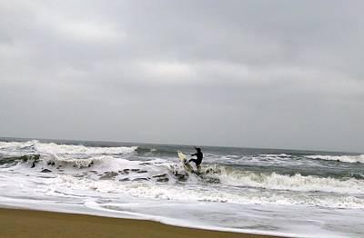 Ocean Photograph - Surfs Up by Paulette Ingersoll