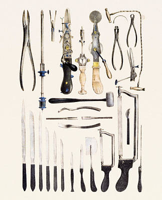 Surgical Instruments For Use On Bone Art Print