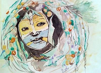 Painting - Surma Tribe I. by Paula Steffensen