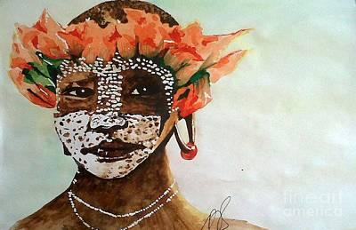 Painting - Surma Tribe IIi. by Paula Steffensen