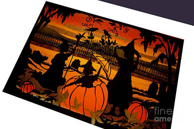 Spooky Card Mixed Media - Surprise by Nancy Michalak