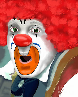 Painting - Surprised Clown by Methune Hively
