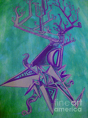 Painting - Surprised Tasugo  by Raul Morales