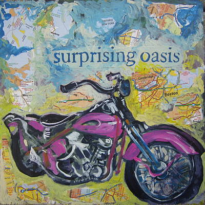 Print featuring the painting Surprising Oasis by Tilly Strauss