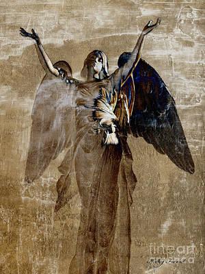 Surreal Digital Art Photograph - Surreal Fantasy Angel Wings Heavenly Art by Kathy Fornal