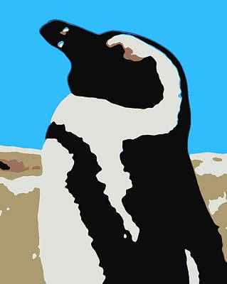 Photograph - Surreal South African Penguin by Ramona Johnston