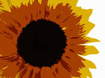 Photograph - Surreal Sunflower by Ramona Johnston