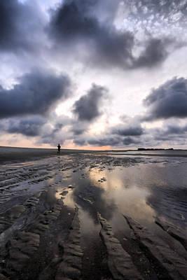 Photograph - Surreal Sunrise Beach Run by Alan Raasch