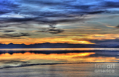 Surrealism Royalty-Free and Rights-Managed Images - Surreal Sunset - Utah Lake by Gary Whitton