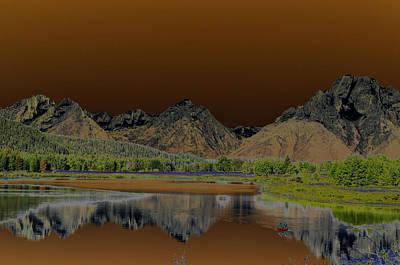 Teton Digital Art - Surreal Tetons by Vijay Sharon Govender