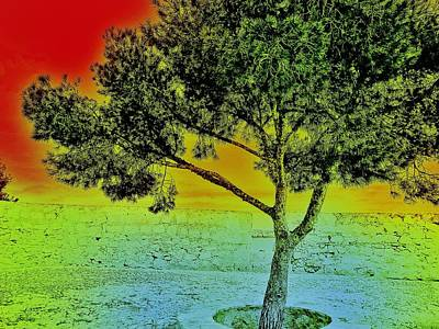 Surrealism Royalty-Free and Rights-Managed Images - Surreal Tree I. by Marianna Mills