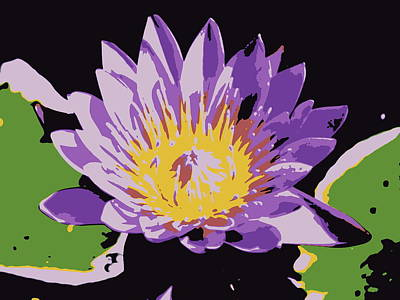 Photograph - Surreal Water Lily by Ramona Johnston