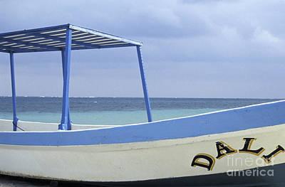 Art Print featuring the photograph Surrealist Fishing Boat Riviera Maya Mexico by John  Mitchell