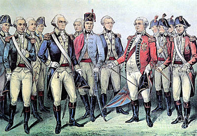Surrender Of Lord Cornwallis, 1781 Art Print by Photo Researchers