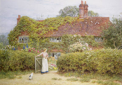 Surrey Cottage Art Print by Helen Allingham