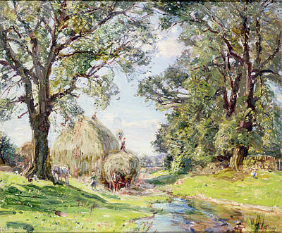 Surrey Landscape  Art Print by Edmund George Warren