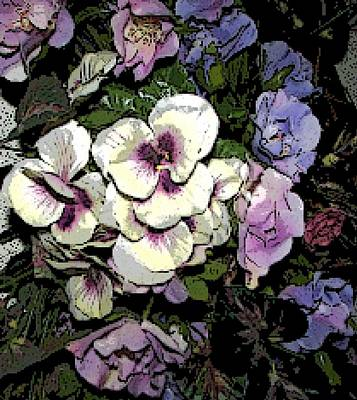 Surrounding Pansies Art Print by Pamela Hyde Wilson