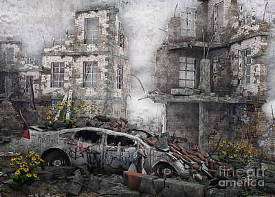 Digital Art - Survivors Between Ruins by Jutta Maria Pusl