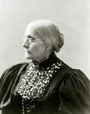 Susan B. Anthony 1820-1906, In 1890s Art Print