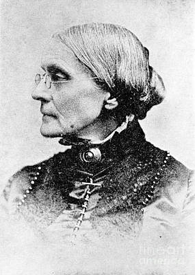 Slavery Photograph - Susan B. Anthony, American Civil Rights by Photo Researchers, Inc.