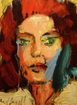 Art Print featuring the painting Susan by Les Leffingwell