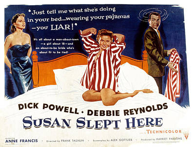 Posth Photograph - Susan Slept Here, Anne Francis, Debbie by Everett