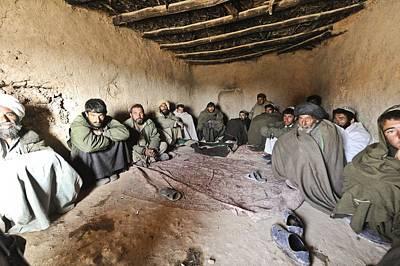 Suspected Taliban Detainees Held Art Print by Everett