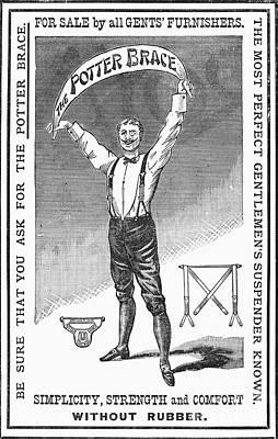 Suspenders, 1888 Art Print by Granger