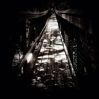 Iphone 4 Photograph - Suspension - Cross Over To The Other by Photography By Boopero
