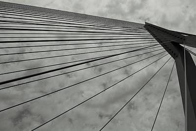 Photograph - Suspension Bridge Abstract 3 by Dean Harte