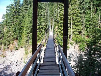Photograph - Suspension Bridge by Mark Bowmer