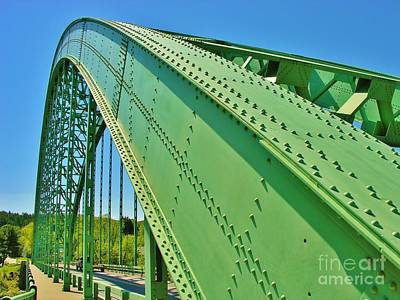 Art Print featuring the photograph Suspension Bridge by Sherman Perry