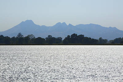 Photograph - Sutter Buttes And Flooded Rice Field by Mark Greenberg