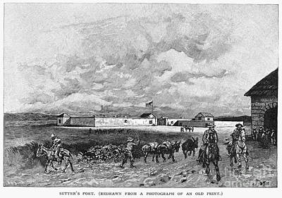 Sutters Fort, 19th Century Print by Granger