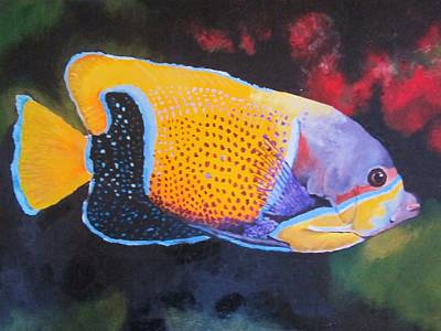 Majestic Angelfish Painting - Sutton Fish by Terry Gill