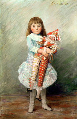 Female Clown Painting - Suzanne by Pierre Auguste Renoir