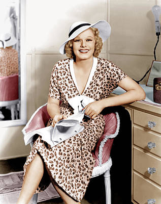 Beauty Mark Photograph - Suzy, Jean Harlow, 1936 by Everett