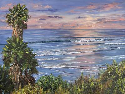 Painting - Swamis Sunset by Lisa Reinhardt