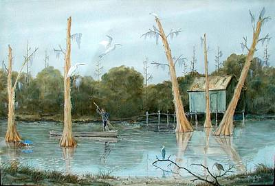 Painting - Swamp Bayou by Gary Partin