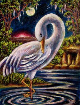 Painting - Swamp Crane by Sebastian Pierre