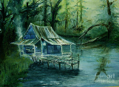 Painting - Swamp Shack by Sibby S