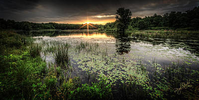 Sunrise Photograph - Swamp Sunrise by Everet Regal