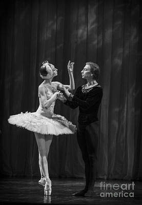 Photograph - Swan Lake  White Adagio  Russia by Clare Bambers