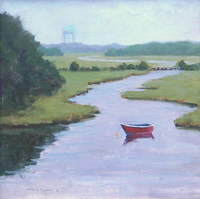 South Boston Painting - Swan River - Cape Cod by Tommy Cherry