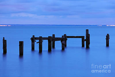 Swanage Pier Photograph - Swanage Pier Before Dawn by Richard Thomas