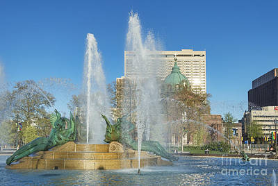 Swann Fountain At Logan's Circle Art Print