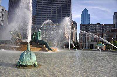 Swann Memorial Fountain Digital Art - Swann Memorial Fountain In Philadelphia by Bill Cannon